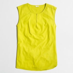 J.Crew Drapey Keyhole Blouse Top 8 Chartreuse